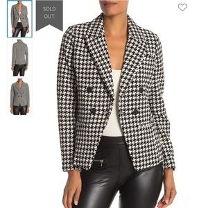 NWT Bagatelle houndstooth double breasted blazer S